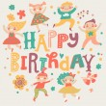 Stylish Happy birthday background — Stock Vector #75026655