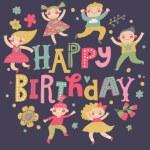 Stylish Happy birthday background — Stock Vector #75026723