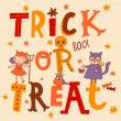 Bright trick or treat halloween card — Stock Vector #75027575