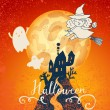 Dark castle halloween card — Stock Vector #75028923