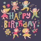 Stylish Happy birthday background — Stock Vector