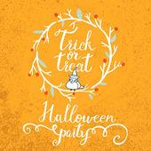Trick or treat halloween card — Stock Vector