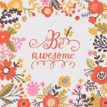 Stylish floral romantic card — Stock Vector #75030365