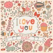 I love you romantic card — Stock Vector #75032283