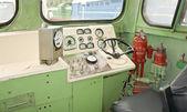 Locomotive cab — Stock Photo