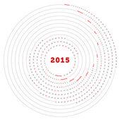 ベクトル単にラウンド カレンダー 2015 — ストックベクタ
