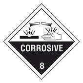Hazardous materials sign — Stock Vector