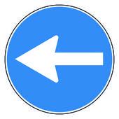 Circle road sign — Stock Vector