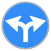 Круг дорожный знак — Cтоковый вектор
