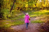 Beautiful girl in the autumn park — Stock Photo