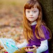 Girl on picnic in the autumn park — Stock Photo #53998193