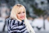 Beautiful young blond woman — Stock Photo