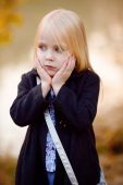 Little girl on the nature background — Stock Photo