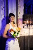 Bride in the classic interior — Stock Photo