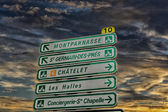 Street sign in Paris — Stock Photo