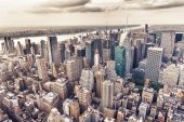 Aereal view of Manhattan — Stock Photo