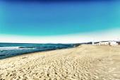 Morze, plaża i śnieg, Toskania — Zdjęcie stockowe