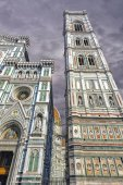 The Tower of the Cathedral of Florence — Stock Photo