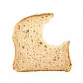 Bitten slice of bread — Stock Photo