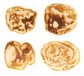 Small pancakes isolated — Stock Photo