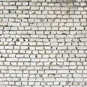 Fragmento de parede de tijolo branco velho — Foto Stock
