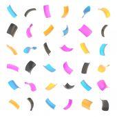 конфетти глянцевый изолированных хлопья — Стоковое фото