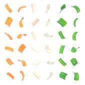 Confetti glossy flakes isolated — Stock Photo