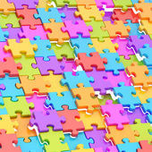 Abstract puzzle background composition — Stock Photo