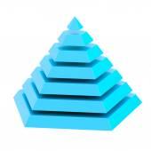 Divided into segments pyramid — Stock Photo