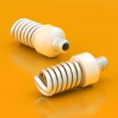 Two energy saving bulbs — Stock Photo