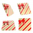 Wrapped gift box with bow — Stock Photo #53845823