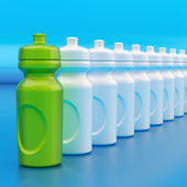 Plastic drinking bottles — Stock Photo