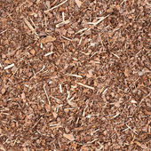 Wooden mulch ground — Stock Photo