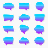 Multiple glossy text bubble set — Stock Vector