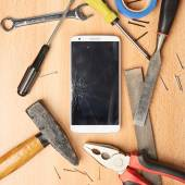 Repair mobile phone — Stock Photo