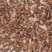 Wooden mulch ground — Stock Photo