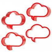 Cloud text bubbles — Stock Photo