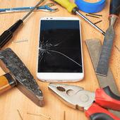 Repair mobile phone — Foto de Stock