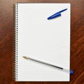 Lined note book — Stock Photo