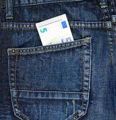 Five euro in pocket — Stock Photo