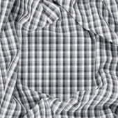 Wrinkled squared cloth fabric — Stock Photo
