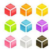 Forme de cube de vecteur — Vecteur