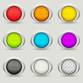 Nine round buttons — Stock Vector