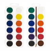 Watercolor painting set, isolated — Stock Photo