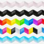 Seamless horizontal vector ornament — Stock Vector