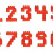 Set of numbers made of toy bricks — Stock Photo #55630777
