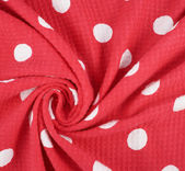 Fragment of polka dot cloth — Zdjęcie stockowe