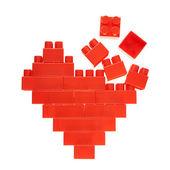Heart symbol made of toy bricks — Stock Photo