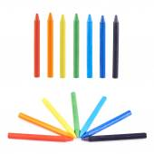 Multiple wax crayons — Stock Photo