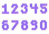 Toy bricks numbers — Stock Photo
